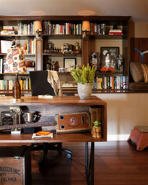 man cave home office eclectic home office los