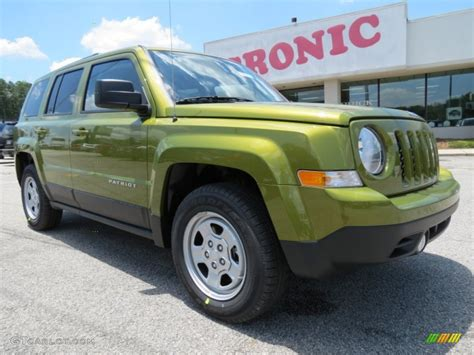 green jeep patriot 2012 rescue green metallic jeep patriot sport 66820359