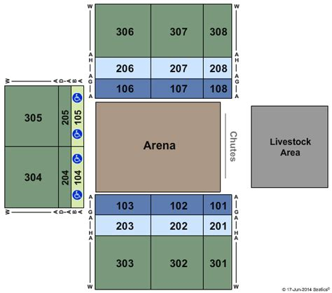Forum Credit Union Event Center Winstar Casino Pbr Professional Bull Riders Seating Chart