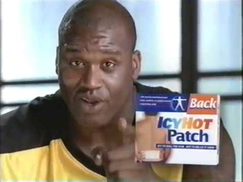 icy hot commercial youtube shaq icy hot back patch commercial youtube