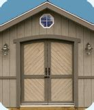Pre Made Shed Doors by Cambridge 10x16 Wood Backyard Storage Shed Kit