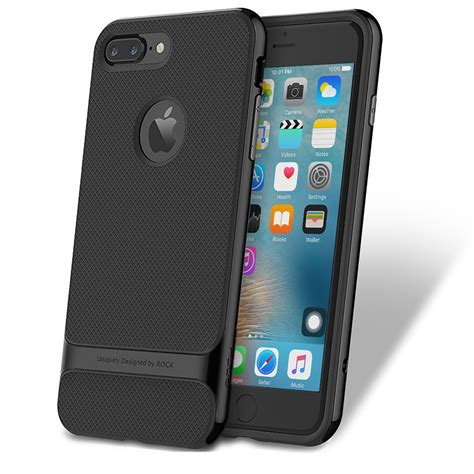 Sale Bumper Ultrathin Iphone 7 Plus rock royce ultra slim hybrid shockproof cover bumper for iphone 7 plus 8 plus jet black