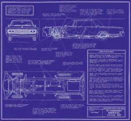 print plans 1965 chrysler imperial blueprint