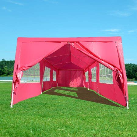 amazon com hercules canopy shelter party tent 18x20 w buy outt 195 194 174 outdoor 10 x 30 wedding tent party canopy