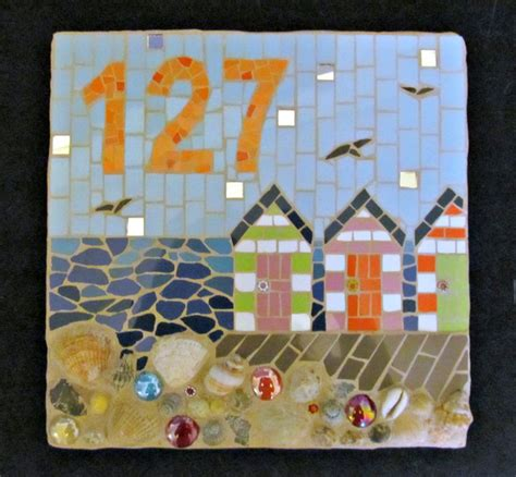 decorative house numbers decorative house number mosaic by handmade by hippo beach style house numbers by