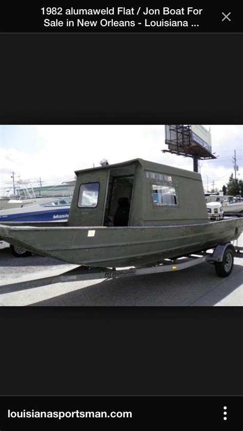 enclosed aluminum fishing boat jon boat with a cabin boats pinterest boating boat