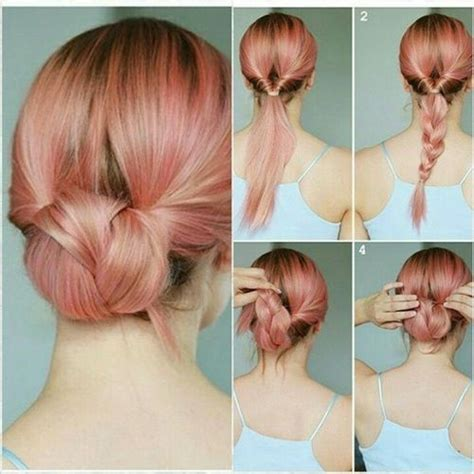 easy hairstyles for medium hair to do at home videos super easy updos for medium hair hair styles pinterest