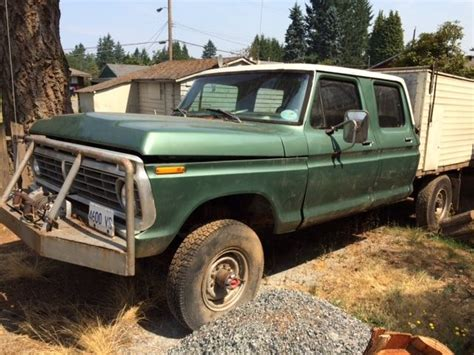 1974 ford crew cab for sale f250 crew cab 4x4 classic ford f 250 1974 for sale