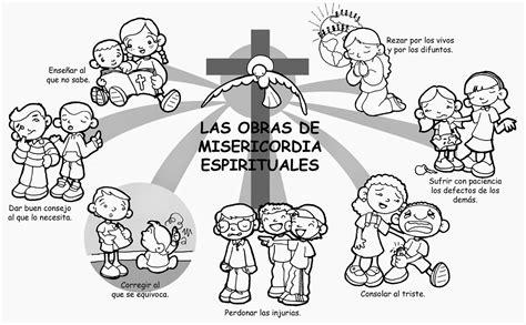imagenes espirituales para bbm dibujos para catequesis las obras de misericordia