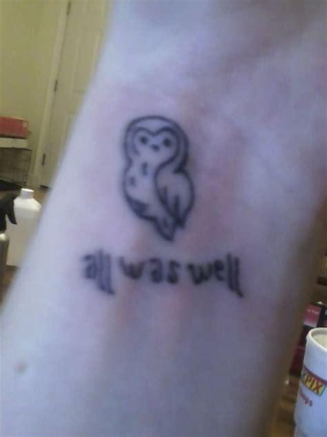 owl tattoo harry potter hp tattoo on imgfave