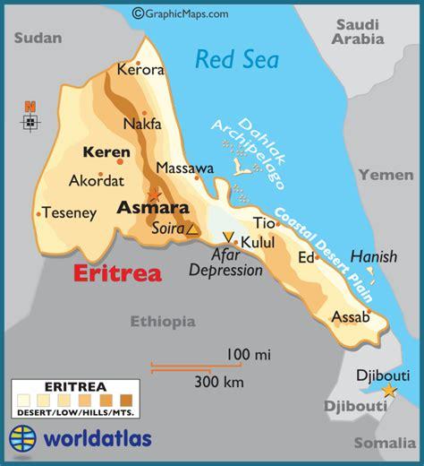 eritrea map map of eritrea state of eritrea maps mapsof net