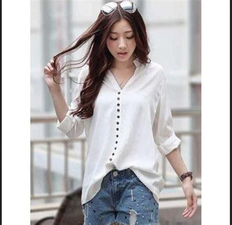 Kemeja Shinta Bw Lengan Panjang model baju atasan wanita lengan panjang terbaru