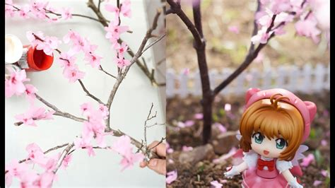 How To Make A Cherry Blossom Tree Out Of Paper - diy how to make miniature cherry blossom tree
