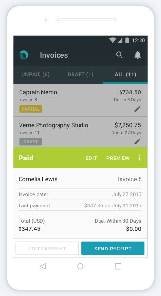 Free Invoicing For Small Businesses Invoice By Wave Invoice Template For Android Phone