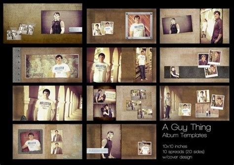 a guy thing album templates for photographers 10 x 10