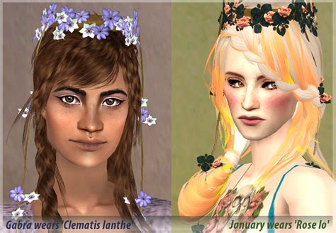 sims 2 hairstyles hair is our crown mod the sims nymph flower crowns