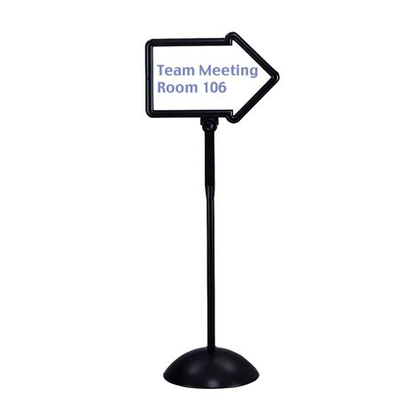 sign stands write way directional sign stand