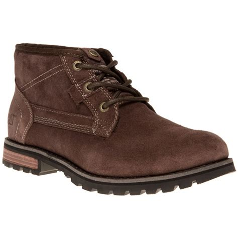 new mens caterpillar brown daniel suede boots lace up ebay
