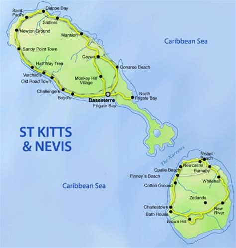 st kitts and nevis map map of st kitts my