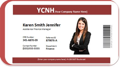 company badge template photo id badge word templates word excel templates