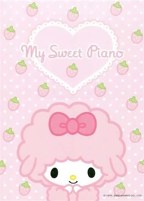Mukena My Melody Sweet Pink piano mymelody kawaii my melody kuromi
