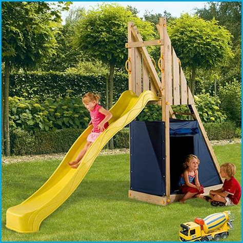 swings and slides for small gardens blue rabbit freeslide with slide wooden climbing frames