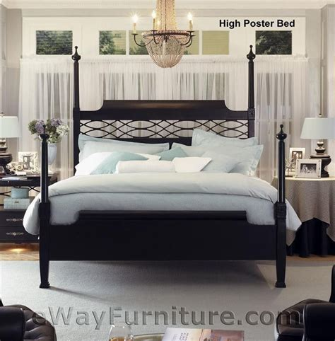 new american federal king black wood four poster bed