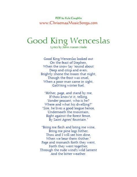 testo california king bed king wenceslas lyrics