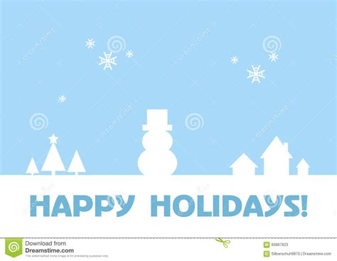happy holidays from company card template happy holidays greeting card winter background stock