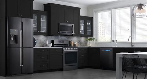 dream kitchen appliances these samsung black stainless steel appliances look