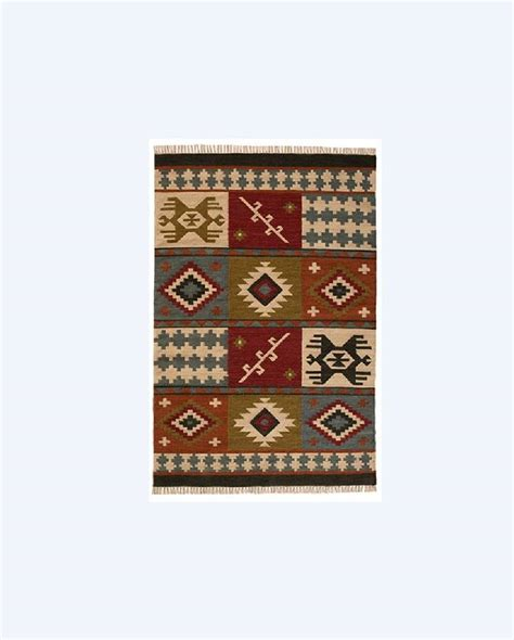 Patchwork Wool Rug - patchwork design wool and cotton rug runner by