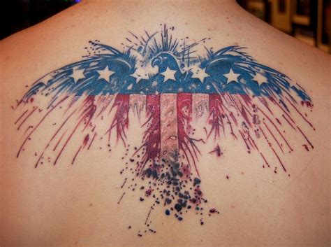 american flag back tattoos american flag day on back
