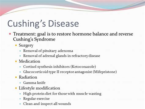 cushings disease treatment endocrine disorders ppt
