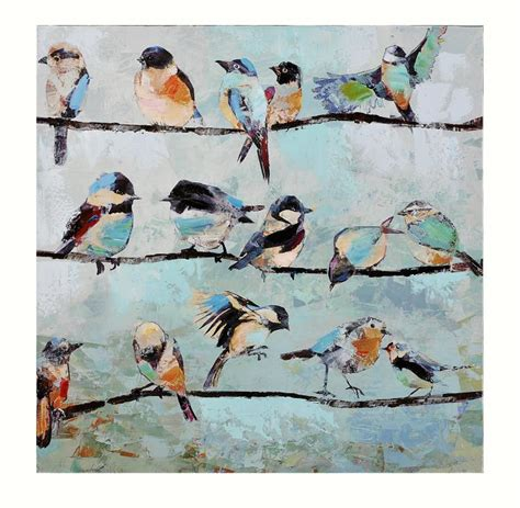 Canvas Decor Bird On Wire giftcraft birds on a wire stretched canvas painting