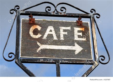 Subscribe To Flyaway Cafe By Email by Signboards Wooden Cafe Sign Stock Picture I1237987