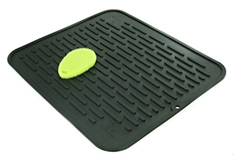 Silicone Counter Mat xl premium silicone dish drying mat counter protector with bonus scrubby hygienic