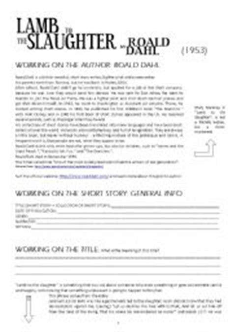 printable version of lamb to the slaughter english teaching worksheets other worksheets