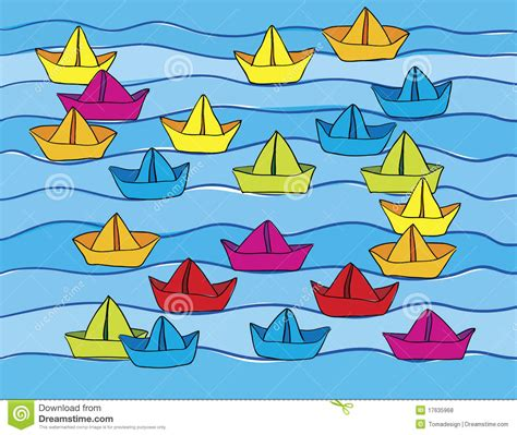 How To Make Different Types Of Paper Boats - paper boats on water royalty free stock photos image