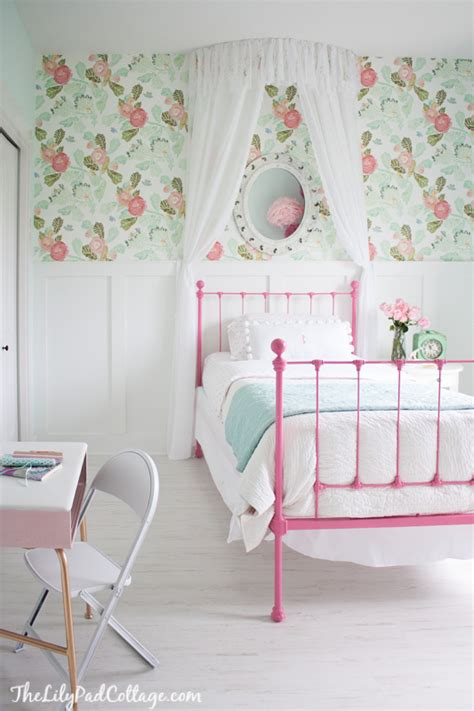 little girl wallpaper for bedroom house tour the lilypad cottage