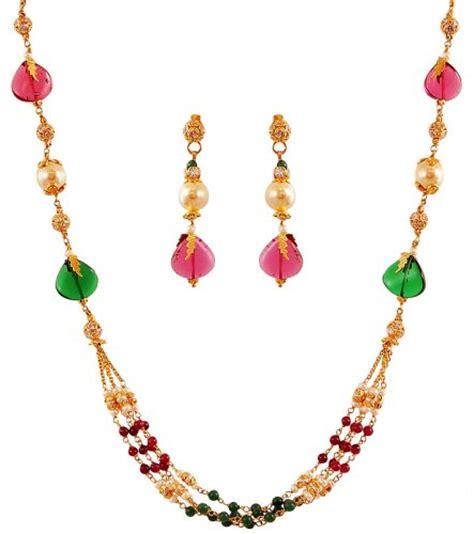 22k multi necklace set ajns60892 22k gold