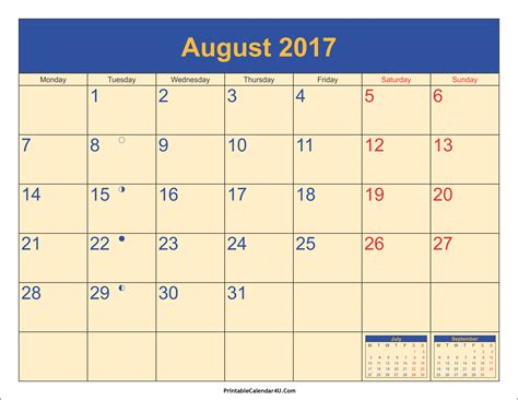 august 2017 calendar printable with holidays pdf and jpg