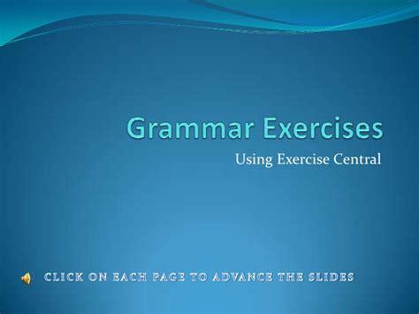 grammar exercises power point