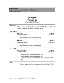 Resume Template In Doc Simple Resume Sle Doc Gallery Creawizard