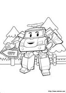 coloriage poli en mode robot