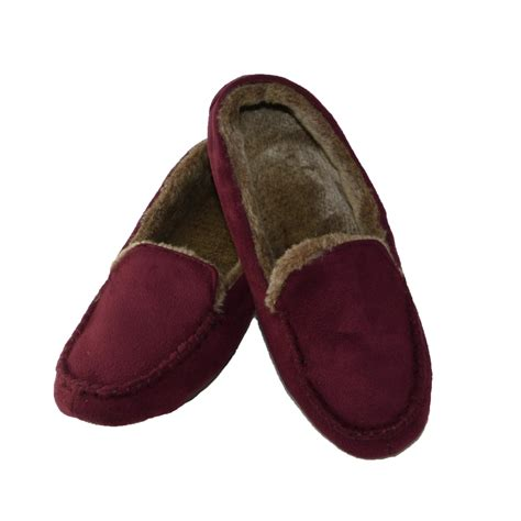 totes slippers womens womens microsuede memory foam moccasin slipper by totes