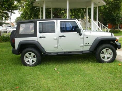 2007 Silver Jeep Wrangler Sell Used 2007 Jeep Wrangler X Unlimited 4x4 Bright