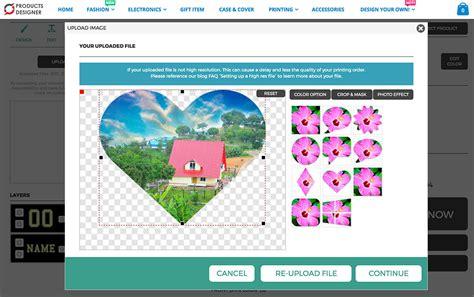 html5 layout software html5 product designer editing uploaded photo product