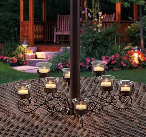 Patio Umbrella Candle Holder Outdoor Votive Candle Chandelier Decor Ideasdecor Ideas