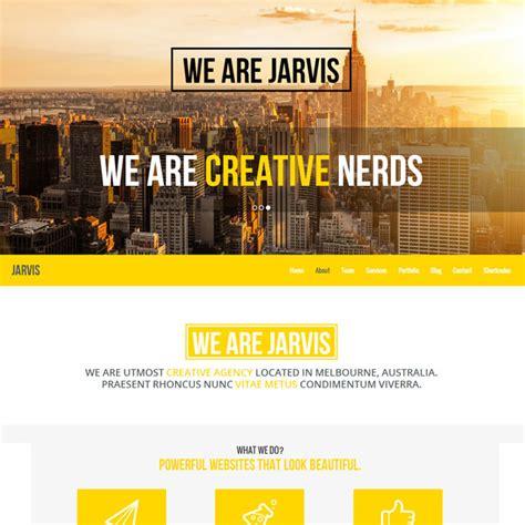 theme wordpress jarvis jarvis one page wordpress theme best wordpress themes 2017