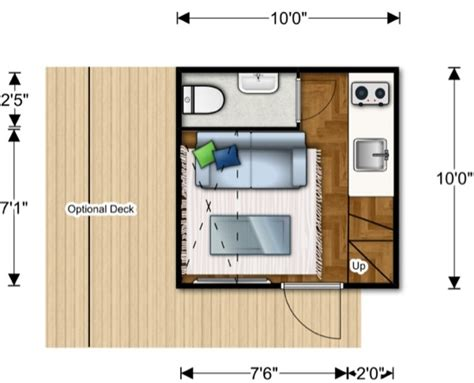 micro floor plans 100 sq ft prefab nomad micro home could you live this